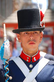 Men in soldier costume Stock Photography