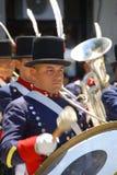Men in soldier costume Stock Image