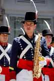 Men in soldier costume parade Stock Photos