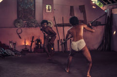 Men with spears in Kerala Stock Image