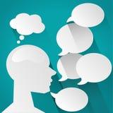 Men speech bubble over and balloon vector Stock Photography