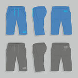 Men sport shorts. Design templates front, back and side views Royalty Free Stock Photos