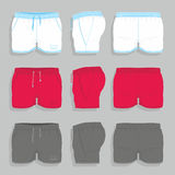 Men sport shorts. Design templates front, back and side views Stock Photo