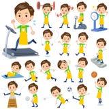 Men_Sports et exercice de gardienne d'enfants Photos libres de droits