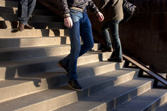 Men on stairs Royalty Free Stock Images