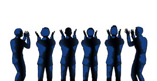 Men Standing Ovation Clapping Applause Royalty Free Stock Photo