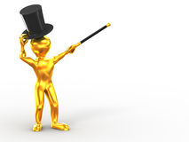 Men with stick and hat Royalty Free Stock Image