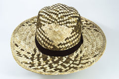 Men straw hat. Wicker hat was buy from the shop near elephant house Ayutthaya, Thailand royalty free stock images