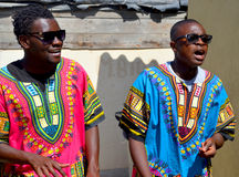 Men street singer Stock Photography