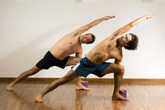 Men Stretching - horizontal Royalty Free Stock Photos