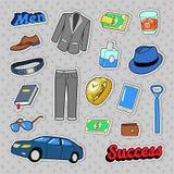 Men Success Accessories and Clothes Set Stock Photo