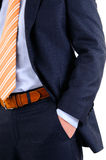 Men in suit. Close-up of the torso of a man in his suit Stock Image