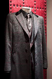 Men suit high fashion. Made of high quality fabric wool and silk. color composition is fantastic. Only italian fashion designers like Dolce & Gabbana could Stock Photos