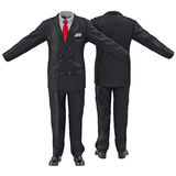 Men suit isolated on white 3D Illustration Stock Photos