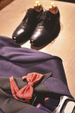 Men suit and shoes Stock Photo