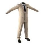 Men Suit on White Background Stock Image