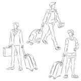 men suitcase Стоковая Фотография RF