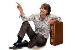men suitcase Стоковые Изображения RF