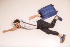 men suitcase Стоковое Изображение