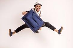 men suitcase Стоковая Фотография