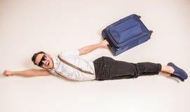 men suitcase Стоковое Изображение RF