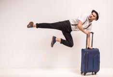 men suitcase Стоковые Изображения