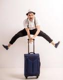 men suitcase Стоковое фото RF