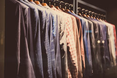 Row Of Men's Suit Jackets Hanging In Shop Stock Photo - Image ...