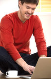 Men surfing web. Stock Images