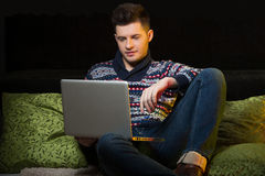 Men surfing web. Stock Photos