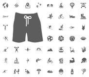 Men swimming suit icon. Sport illustration vector set icons. Set of 48 sport icons. Men swimming suit icon. Sport illustration vector set icons. Set of 48 sport Stock Images