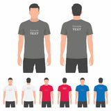 Men t-shirt design template Royalty Free Stock Photography