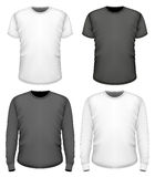 Men t-shirt short and long sleeve Stock Images