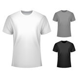 Men T-shirt Template Stock Photography