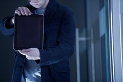 Men With Tablet Royalty Free Stock Photography