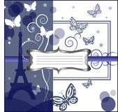 Men tag. With eiffel tower an a background Stock Images