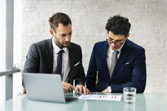 Men Talking Business Analysis Concept royalty free stock photography