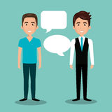 Men talking dialogue isolated. Illustration eps 10 Royalty Free Stock Images