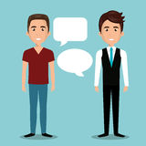 Men talking dialogue isolated. Illustration eps 10 Stock Image