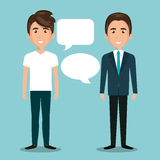 Men talking dialogue isolated. Illustration eps 10 Stock Images