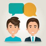 Men talking dialogue isolated. Illustration eps 10 Royalty Free Stock Photos