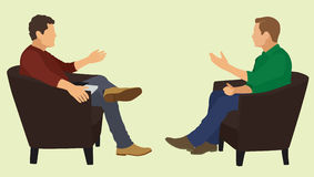 Men Talking With Each Other Royalty Free Stock Photography