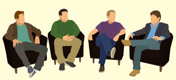 Men Talking With Each Other Royalty Free Stock Image