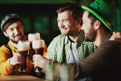 Men in tavern Royalty Free Stock Images