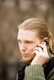 Men with telephone Royalty Free Stock Image