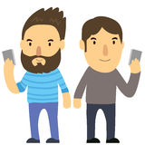 Men and telephone Royalty Free Stock Photo