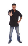 Men with thumb up Stock Image