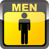 Men toilet label Stock Photos