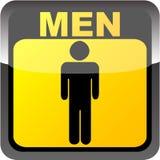 Men toilet label. Vectori illustration Stock Photos