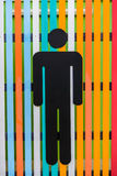Men toilet signs Stock Photography